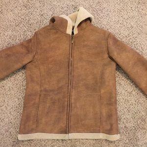 Outbrook Fleece Lined Hooded Coat Sz L (12/14)